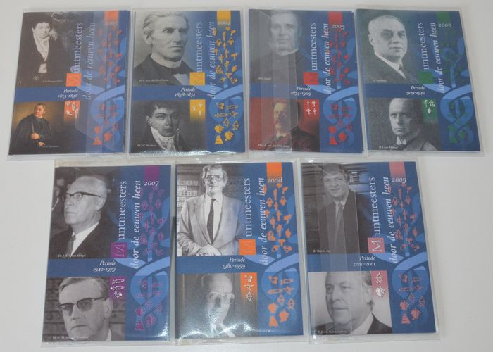 "The Netherlands - Year sets 2003/2009 (7 different ones) ""Mintmasters through the centuries"""