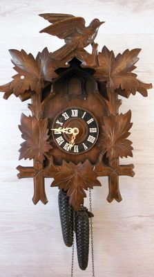 Antique cuckoo-clock - West Germany - First half of the 20th century