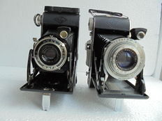A lot of 2 bellows cameras, an Agfa Billy Record and an Agfa Billy Record II