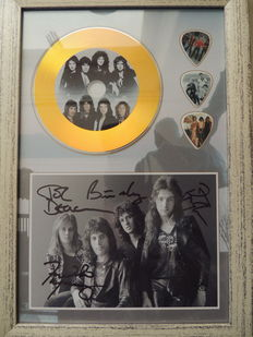 Queen Beautiful Signed Picture Framed Gold Disc Framed