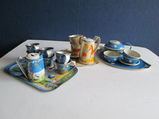 Three Tin toy doll crockery sets - Germany - 20s/30s