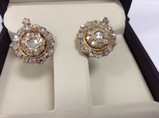 Ancient earrings, 18k gold and diamonds - 4.8 ct