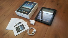 Apple iPad 1, 16GB with original box, charger, silicon cover,etc.