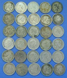 The Netherlands – 5 cents 1850 Willem III (30 pieces) – silver