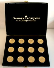 "The Netherlands - Medal collection ""Gouden Florijnen van Oranje Nassau"" (12 different ones) in case"