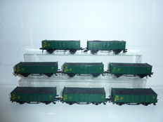 Fleischmann H0 - 5207 - 8 SNCB carriages with load of coal (set 2)