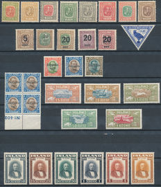 Iceland 1907/1944 – Selection from Michel 48 to 236