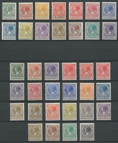 Netherlands 1924/1939 – Queen Wilhelmina 'Veth' – NVPH 149/162 and 177/198