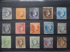 Greece 1861/1960 - Collection of a set on cards