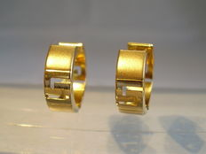 Gold creole earrings 14kt yellow gold
