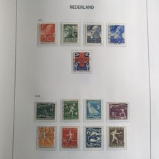 The Netherlands - Collection in DAVO album, rest batch, FDCs, sheetlets, blocks