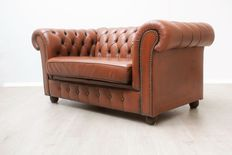 Padded vintage Chesterfield sofa