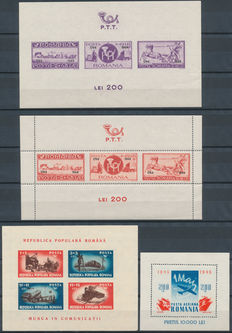 Romania 1941/1958 - Selection between Michel 15 and 48