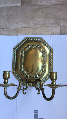 Antique bronze wall sconce - 18th century