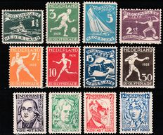 The Netherlands 1928 – Olympic Games and Child stamps – NVPH 212/219 + 220/223