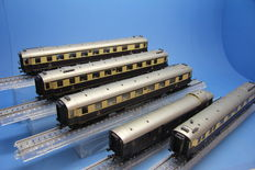 "Märklin H0 - 41928 - Express train carriage set ""Rheingold"" of the DRG"