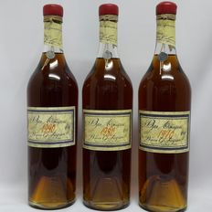 1970 Baron Gaston Legrand -Armagnac bottled 18-08-2014 & 1980 Baron Gaston Legrand Bas-Armagnac bottled 27-10-2014  & 1990 Baron Gaston Legrand Bas-Armagnac bottled 17-09-2013 in original wooden case ( 3 x 700ml )