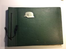 WW2 - Green photo album - 149 photos of a German soldier commented and dated 1941 to 1945