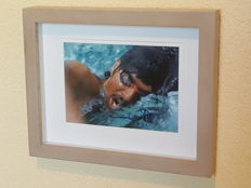 Mark Spitz - Olympic swimming legend - hand autographed 3D framed photo + COA