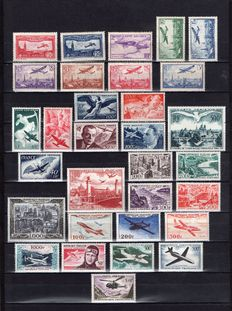 France 1930/1959 - Set of 31 new values with Air Mail Yvert PA N. 5/37