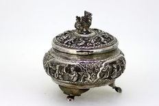 Silver sugar bowl, probably Burma, late 19th century
