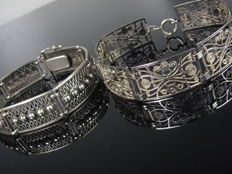 """ Georg Kramer "" 2 x Silver bracelets from the 60s"
