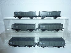 Fleischmann H0 - 5206 - 6 SNCF carriages with load of coal (set 1)