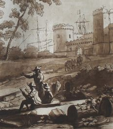 Richard Earlom, after Claude Le Lorrain, 1774, aquatints, Liber Veritatis, # 44, 45, 46, 47