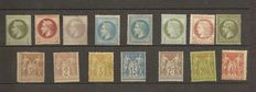 France 1870/1898 - Selection of classic Napoleon, Ceres and Sage.