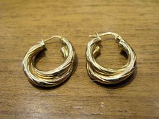 Creole earrings in 18 kt yellow gold – diameter 21.7 mm
