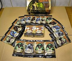 Magic the Gathering: Ravnica, 18 boosterpacks+ 2 tournament packs- 2005