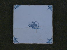 Tile with elephant. Rare!