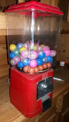 Retro gumball or nut vending machine from the 1970s/80s