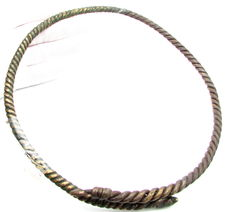 Large Early Medieval Viking Twisted Neck-Torc - 200 mm