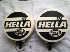 Very large HELLA - 170 Rally fog lights with covers
