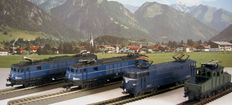 Lima/ Jouef H0 – Four electric locomotives of the SNCB and the SNCF.