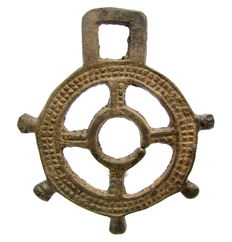 Large Saxon Era Open-Work Pendant with Cross - 63mm