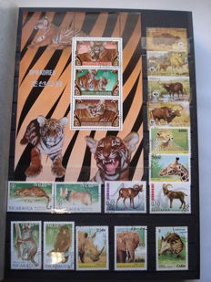 Thematic - Fauna of the World,  +- 1650 Stamps and 10 Sheets