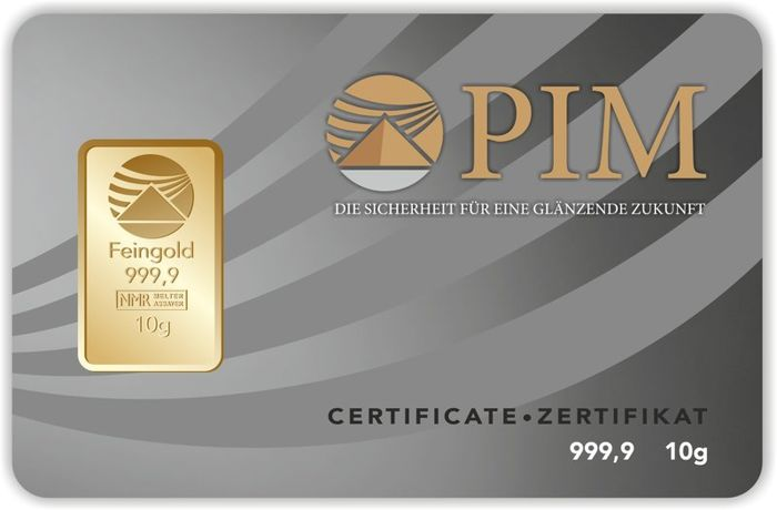 10 g gold bar Nadir PIM GOLD fine gold, fineness Catawiki