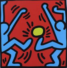 Keith Haring (after) - Untitled - Dog - Statue of Liberty