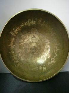 Large, Tibetan singing bowl – Tibet/Nepal – late 20th century.
