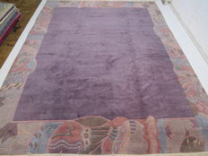 Modern and nice Oriental rug, originally from Nepal, 449 x 349 cm, top condition, late 20th century.  XXL, an excessive rarity