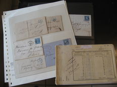 France 1855/1900 – Lot of classic detached and on letters