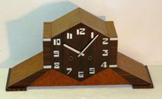 Junghans - large Art Deco table clock, Amsterdam School style