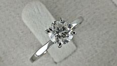 0.91  ct round diamond ring in white gold ***No reserve price ***