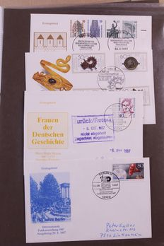 Berlin and GDR of East Germany 1947/1990 - Collection of FDCs, covers, EDBs and stamps in 9 albums