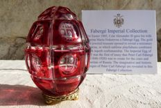 "Fabergé Cristal Color Collection "" The Four Seasons Egg "" - oeuf de Fabergé en Cristal - Numéroté - Signé"