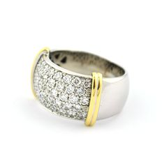 Pavé Diamond (2.00ct) & Bicolor 18K/750 Gold Ring