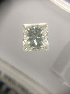 1.00 ct Princess cut diamond G VVS1