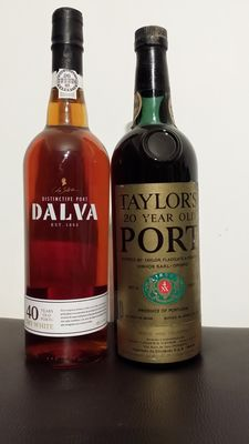 40 year old Dry White Port Dalva - bottled in 2013 & 20 year old Tawny Taylor's - bottled in 1972